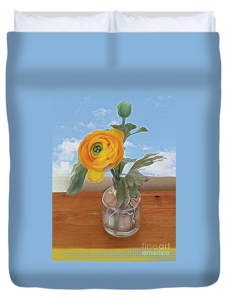 Ranunculus Spring Duvet Cover by Alexis Rotella