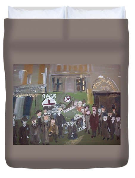 Raob Ambulance Duvet Cover by Judith Desrosiers
