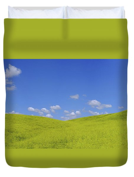 Rapeseed Landscape Duvet Cover by Marius Sipa