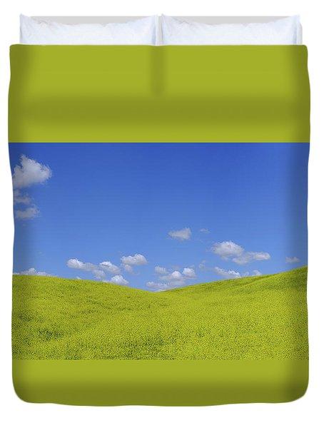 Rapeseed Landscape Duvet Cover