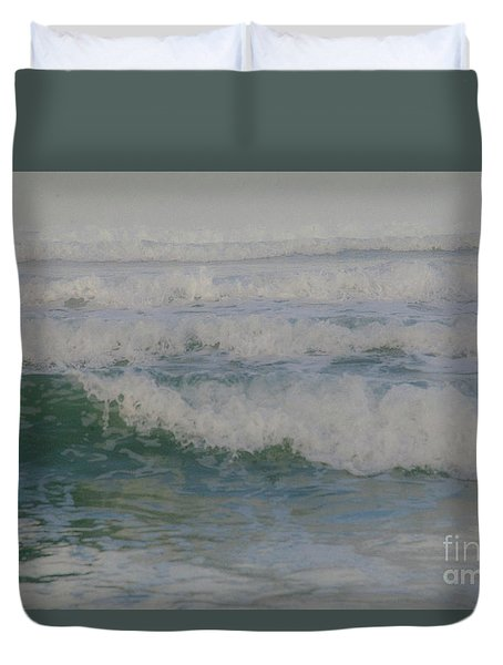 Rapid Waves Duvet Cover by Iris Greenwell