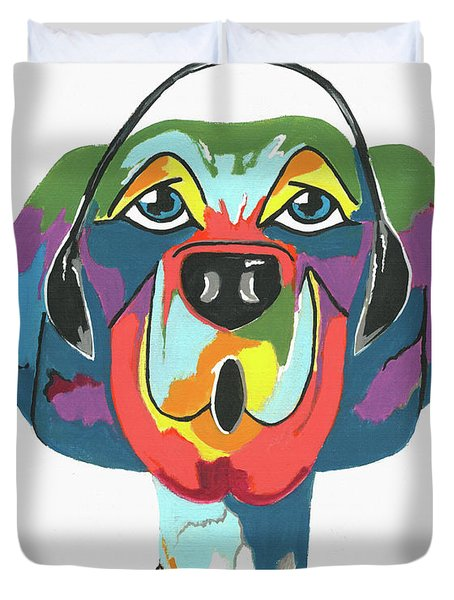 Rapping Rover - Funny  Dog Duvet Cover