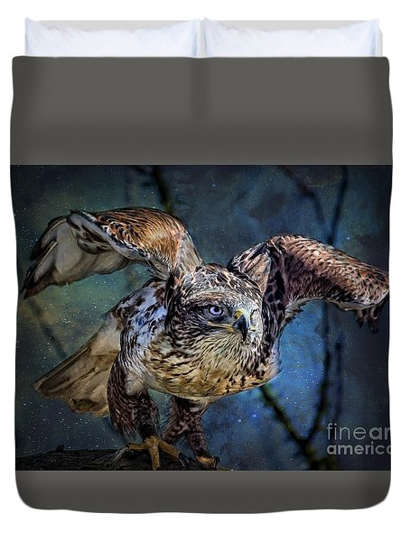 Raptor Hunter Duvet Cover