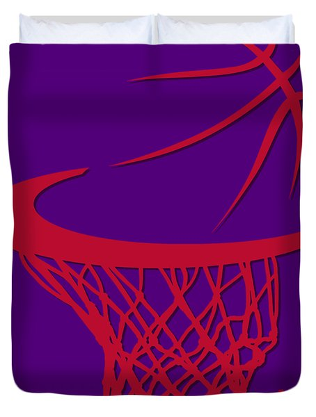 Raptors Basketball Hoop Duvet Cover