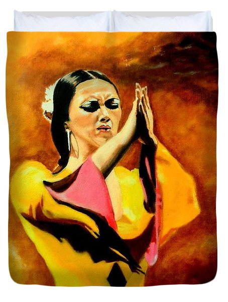 Raquel Heredia - Flamenco Dancer Sold Duvet Cover