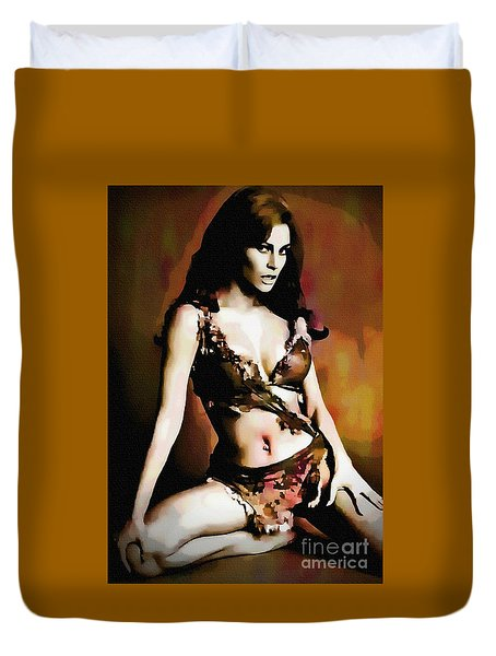 Raquel Welch - One Million Years B.c.  Duvet Cover