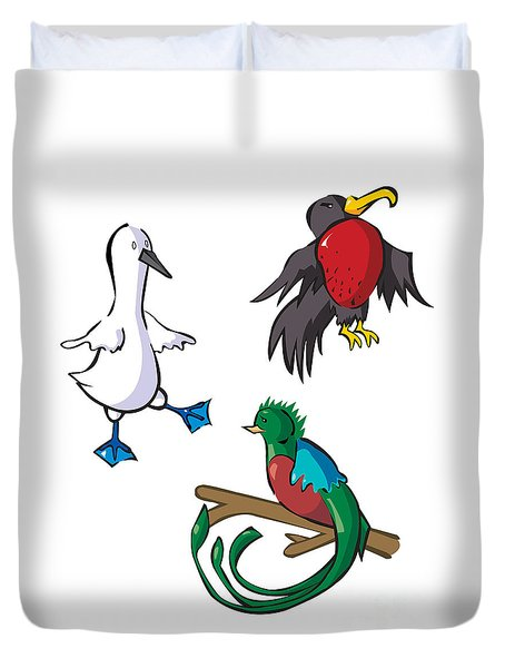 Rare Old Birds Duvet Cover