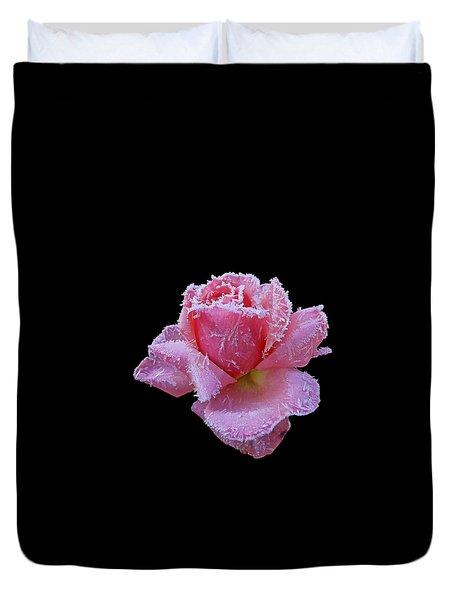 Rare Winter Rose Duvet Cover