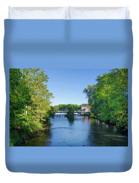 Raritan River - Clinton New Jersey  Duvet Cover by Bill Cannon