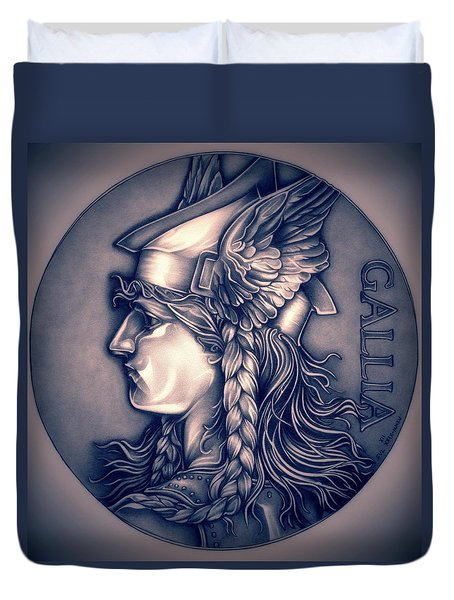 Rasberry Goddess Of Gaul Duvet Cover by Fred Larucci