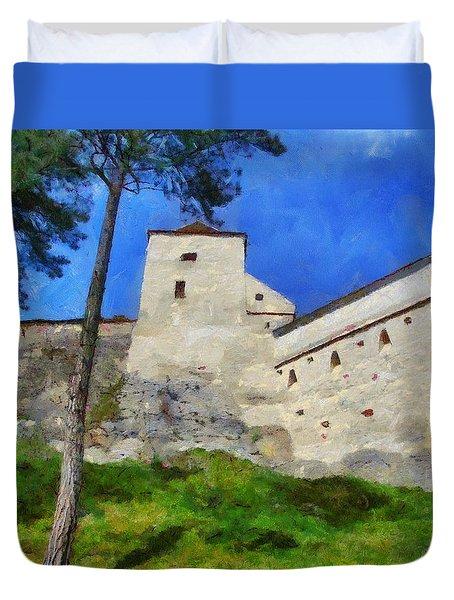 Rasnov Fortress Duvet Cover by Jeff Kolker
