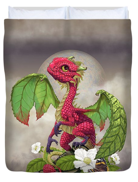 Raspberry Dragon Duvet Cover