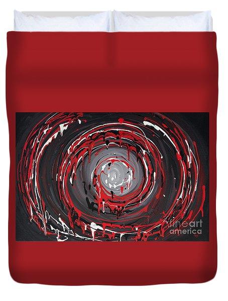 Raspberry Swirls Duvet Cover