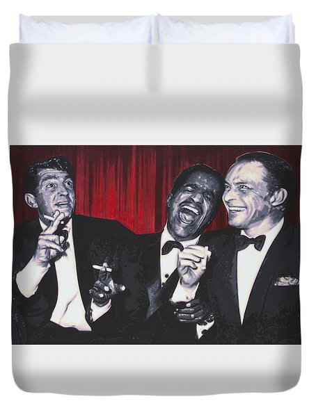 Rat Pack Duvet Cover by Luis Ludzska