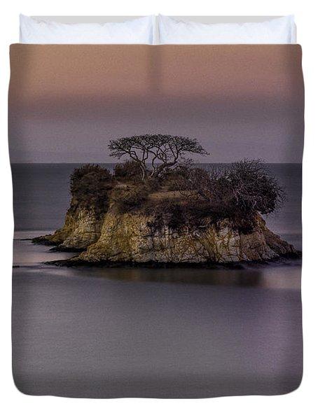Rat Rock Island  Duvet Cover