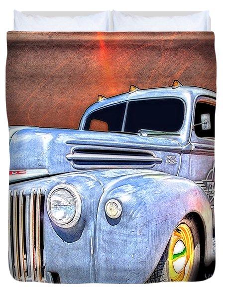 Rat Rod Flatbed Truck Texana Duvet Cover