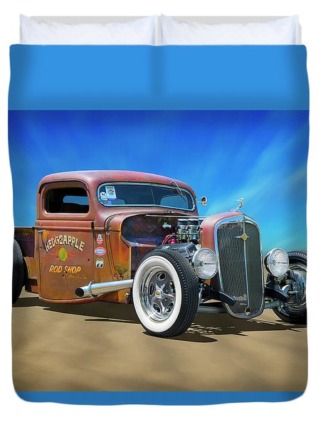 Duvet Cover featuring the photograph Rat Truck On The Beach by Mike McGlothlen