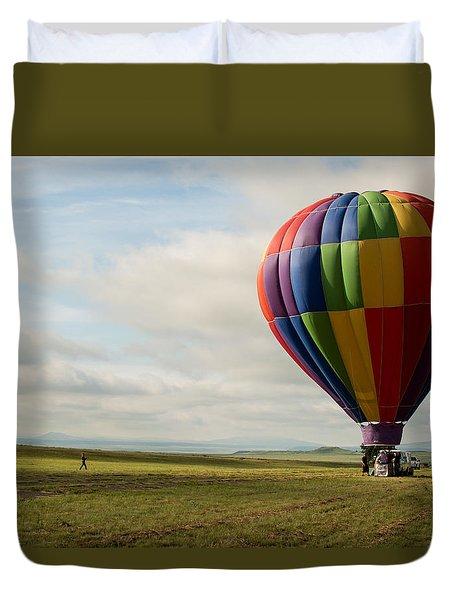 Raton Balloon Festival Duvet Cover