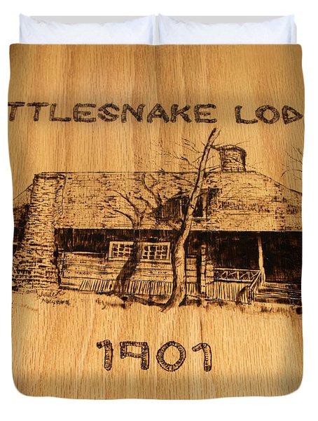 Rattlesnake Lodge  Duvet Cover
