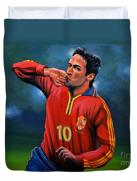 Raul Gonzalez Blanco Duvet Cover by Paul Meijering