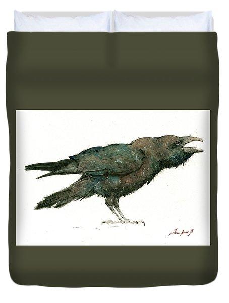 Raven Bird Duvet Cover