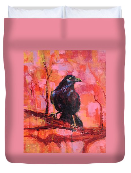 Raven Bright Duvet Cover