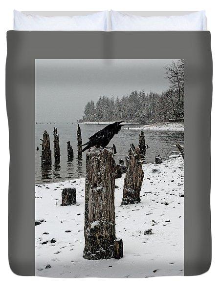 Raven Call Duvet Cover