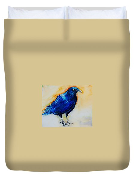 Crow Duvet Cover by Jean Cormier