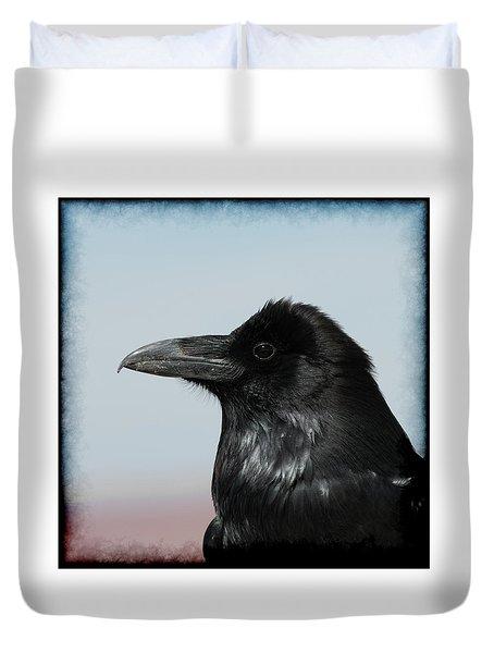 Raven Profile Duvet Cover
