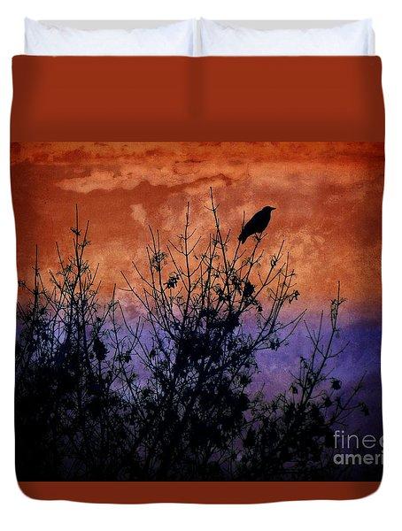 Raven Sentinel Duvet Cover