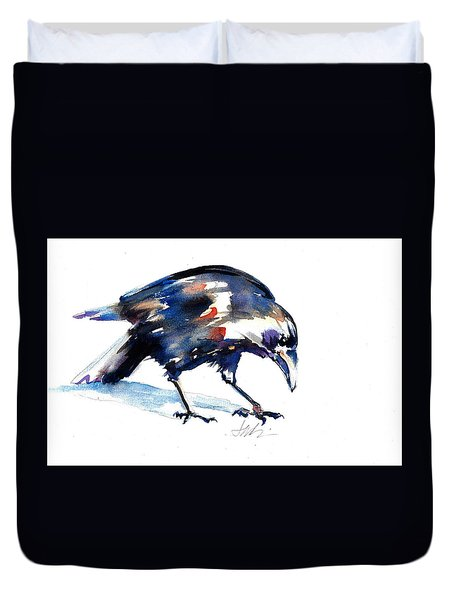 Raven Shadow From Vancouver Duvet Cover