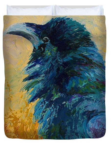 Raven Study Duvet Cover