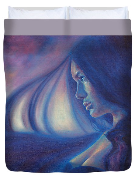 Raven Sunrise Duvet Cover
