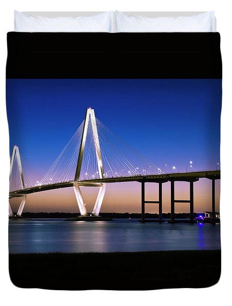 Ravenel Bridge 2 Duvet Cover by Bill Barber
