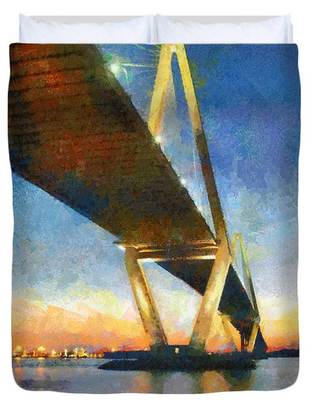 Ravenel Bridge Duvet Cover