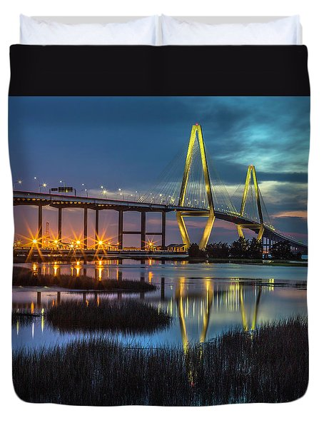 Ravenel Bridge Reflection Duvet Cover