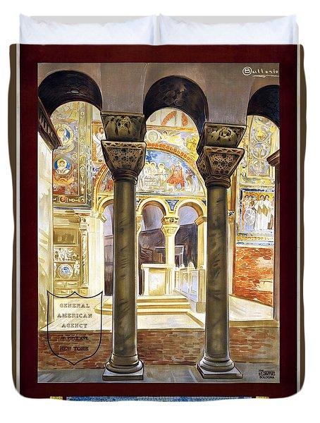 Ravenna, Travel Poster 1925 Duvet Cover