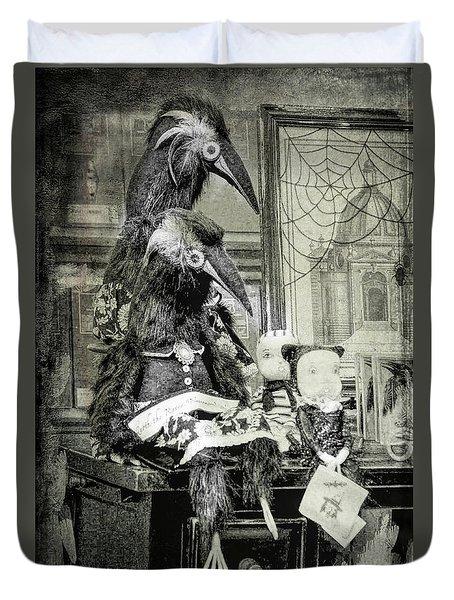 Ravens For Halloween Duvet Cover