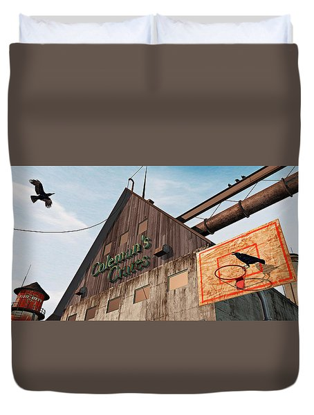 Duvet Cover featuring the painting Game On by Peter J Sucy