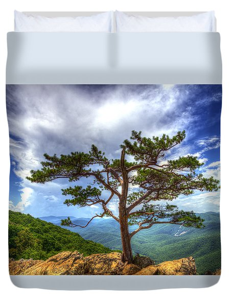 Ravens Roost Tree Duvet Cover by Greg Reed
