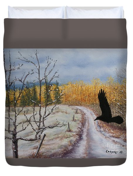 Raven's Thoughts Turned Duvet Cover by Stanza Widen