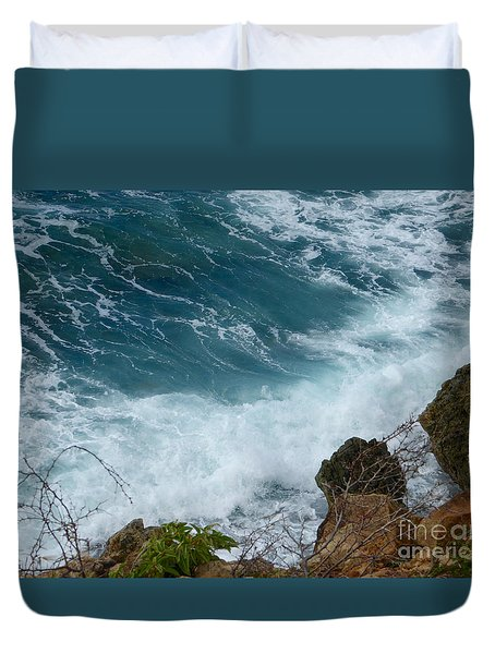 Raw Blue Power Duvet Cover