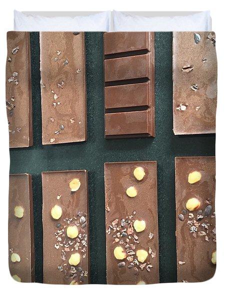 Raw Vegan Chocolate  Duvet Cover