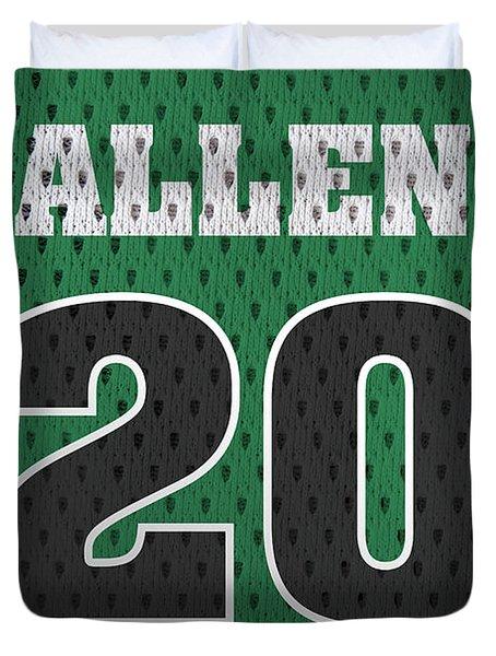 Ray Allen Boston Celtics Retro Vintage Jersey Closeup Graphic Design Duvet Cover