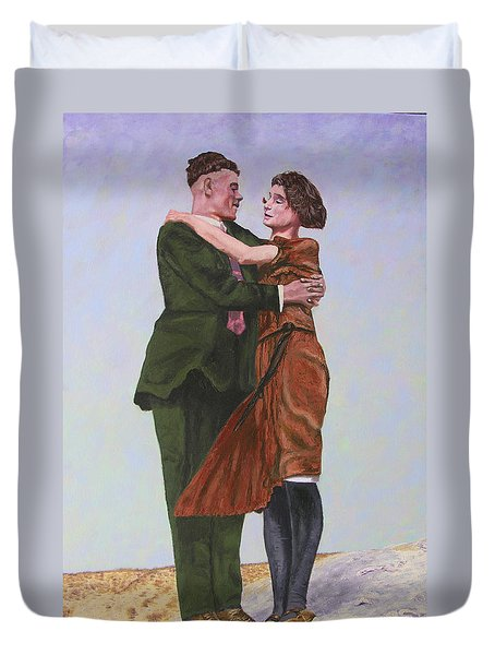 Ray And Isabel Duvet Cover by Stan Hamilton