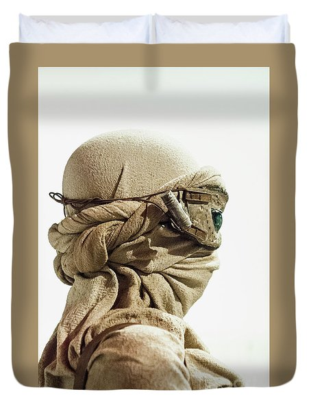 Duvet Cover featuring the photograph Ray From The Force Awakens by Micah May