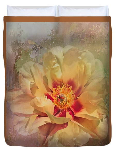 Rayanne's Peony Duvet Cover by Jeff Burgess