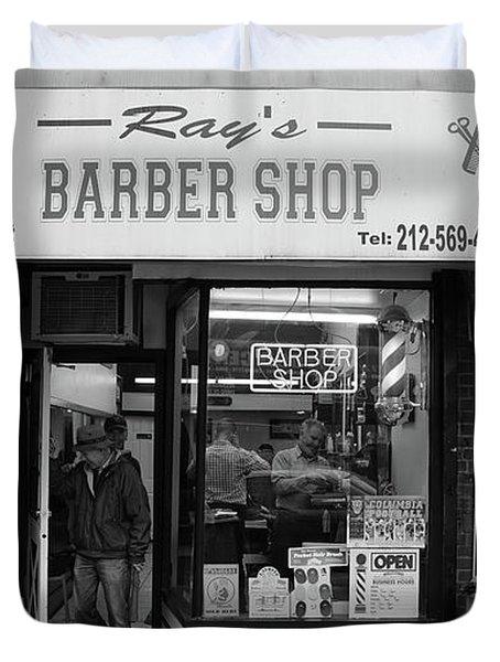 Ray's Barbershop Duvet Cover