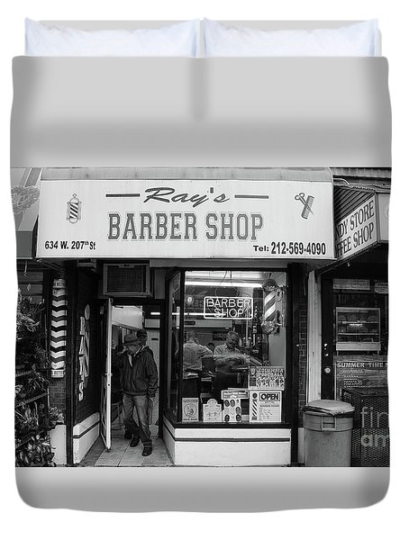 Ray's Barbershop Duvet Cover