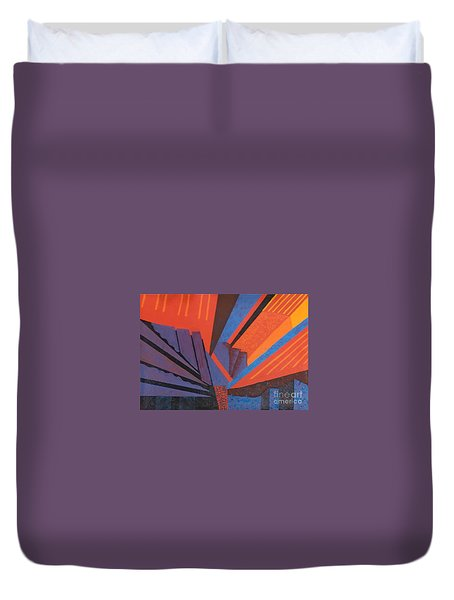 Rays Floor Cloth - Sold Duvet Cover by Judith Espinoza